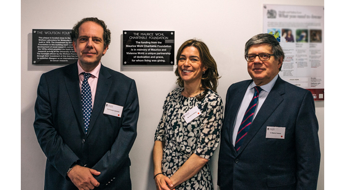 Wolfson Wohl Cancer Research Centre Opening Day Dignitaries